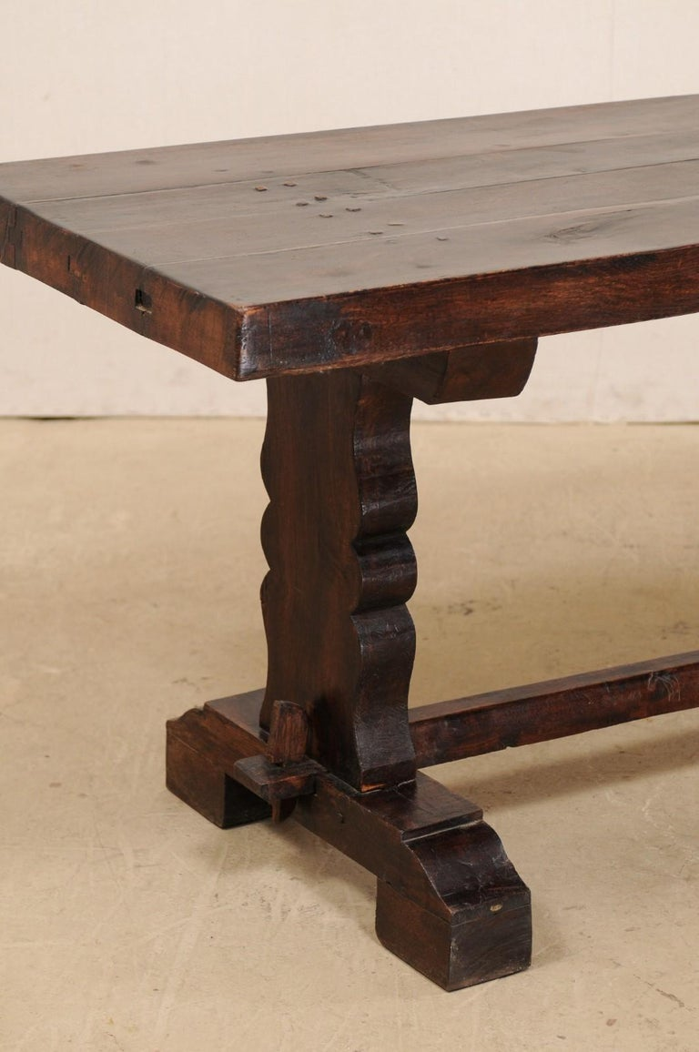 French 19th Century Trestle Table In Good Condition For Sale In Atlanta, GA