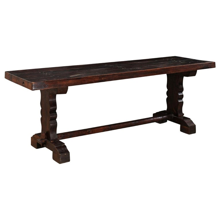 French 19th Century Trestle Table For Sale