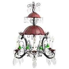 French 19th Century Two-Tiered Pagoda Style Six-Arm Chandelier