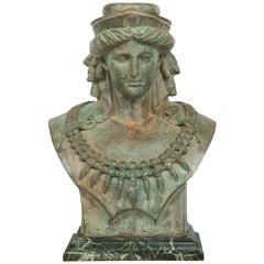 French 19th Century Verdigris Patinated Bronze Statue of Juno