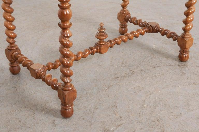 French 19th Century Walnut Barley Twist Desk Table For Sale 4