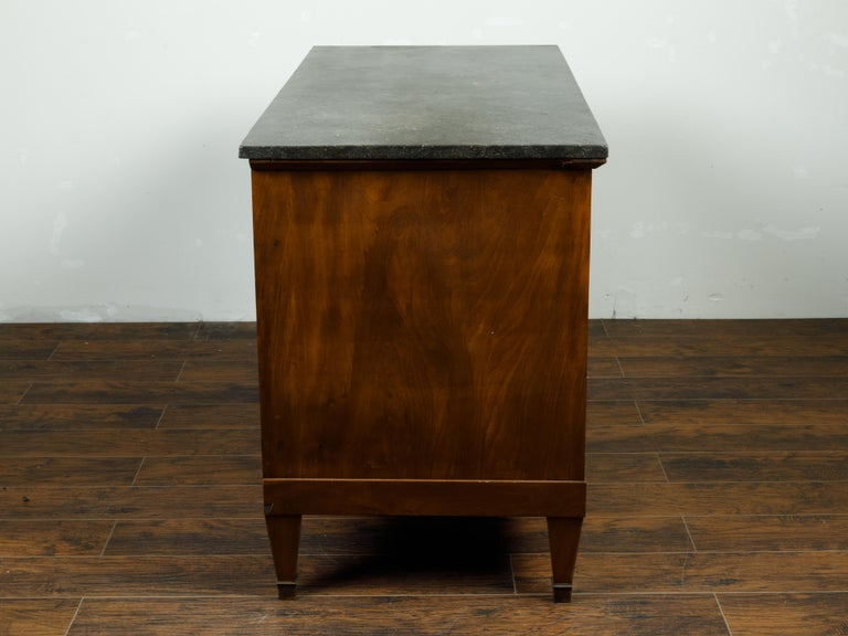 French 19th Century Walnut Buffet with Marble Top, Pull-Out, Drawers and Doors For Sale 6