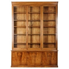 French 19th Century Walnut Louis Philippe Style Bibliothèque