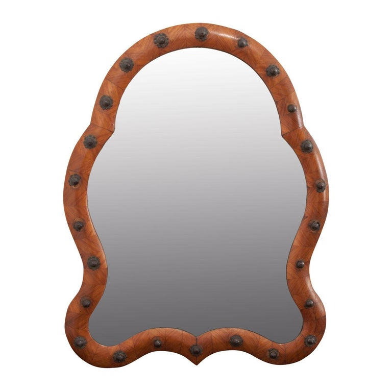 French 19th Century Louis Philippe Walnut Vanity Mirror For Sale