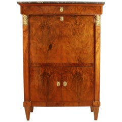 French 19th Century Walnut Secretaire à Abattant