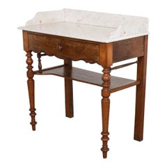 French 19th Century Washstand with Marble Top