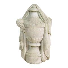 French 19th Century White Marble Garden Urn/ Vase
