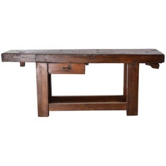 French 19th Century Work Bench Table