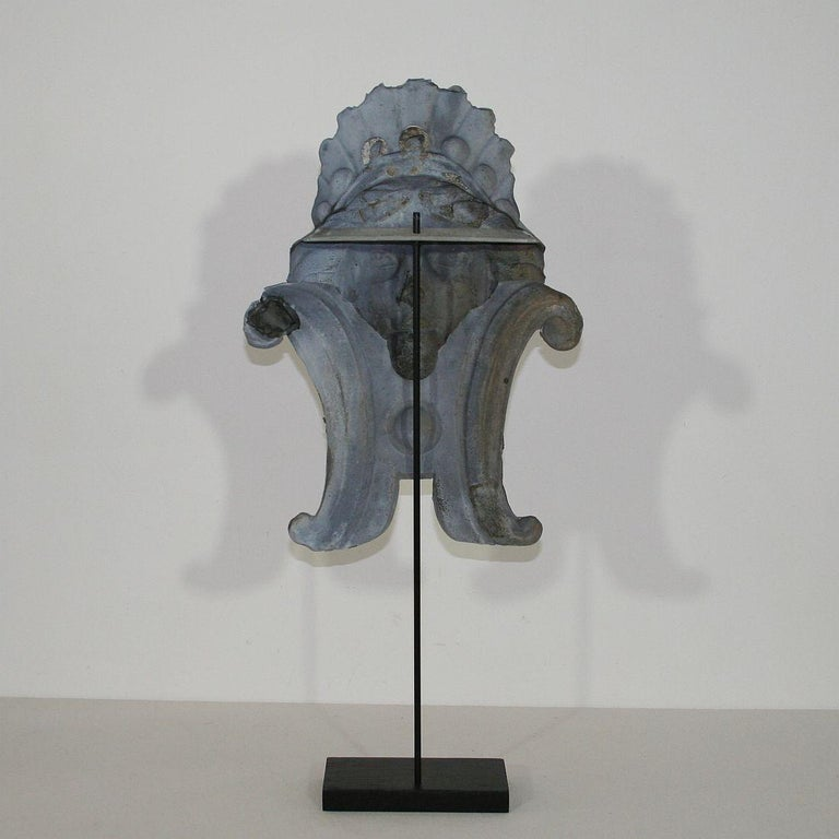 French, 19th Century, Zinc Head Ornament 2