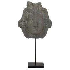 French, 19th Century, Zinc Head Ornament