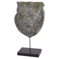 French 19th Century Zinc Lion Head