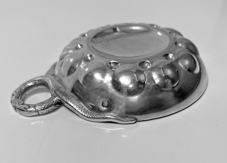 20th Century French 1st Std .950 Silver Wine Taster Tastevin For Sale