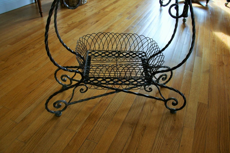 Iron French 2 Level Plant Stand