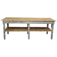 French 2-Tier Draper's Table in Pine, circa 1930