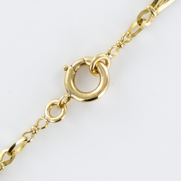 French 20th Century Belle Époque Yellow Gold Filigree Necklace For Sale 6