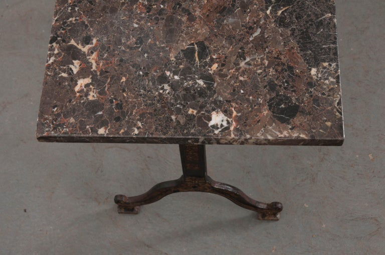 French 20th Century Iron and Stone Garden Table In Good Condition For Sale In Baton Rouge, LA