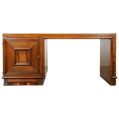 French 20th Century Oak Art Deco Parson Desk