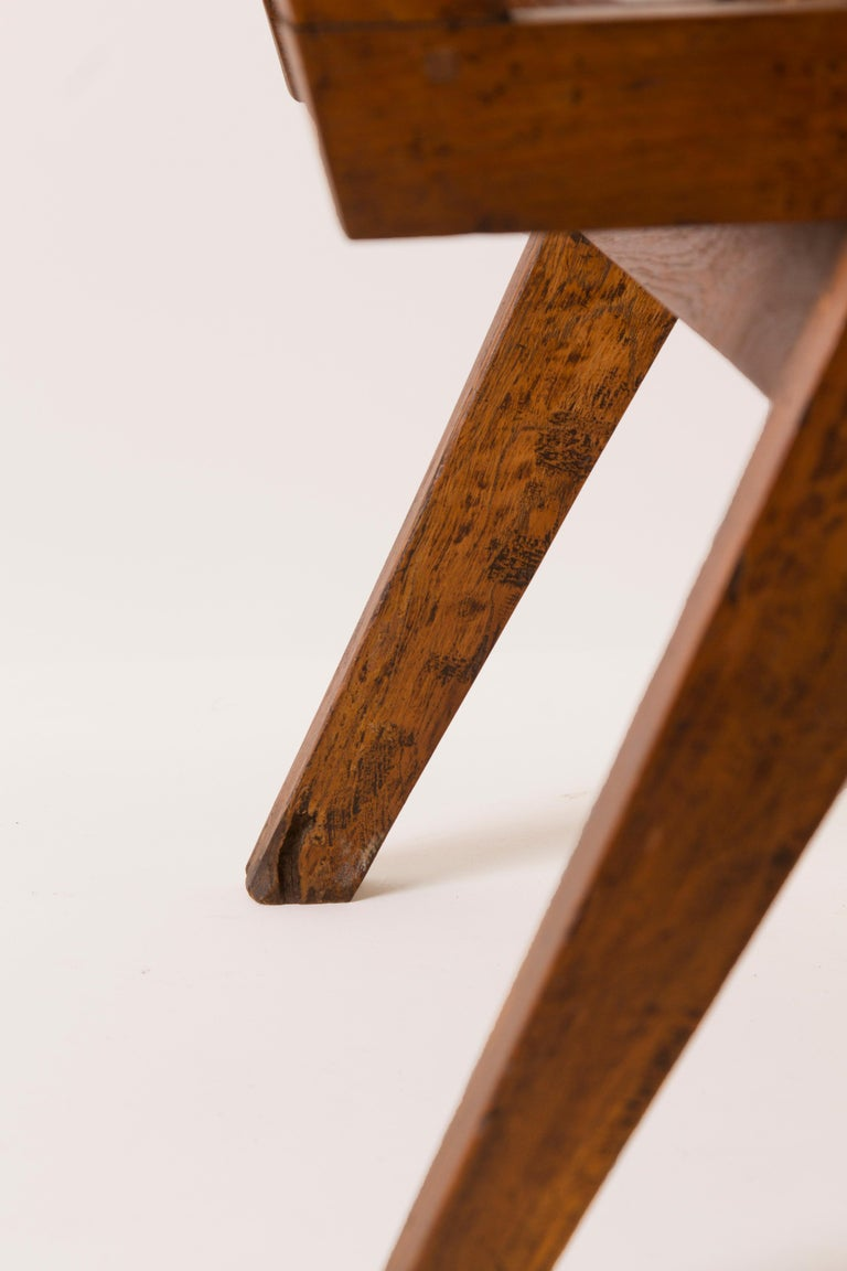 Stained Pierre Jeanneret Pair of