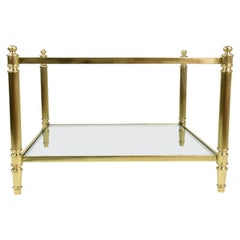 French 20th Century Vintage Brass Coffee Table, 1970s