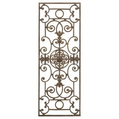 French 20th Century Wrought Iron Grille