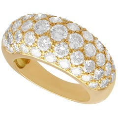 French 2.15 Carat Diamond and Yellow Gold Cocktail Ring