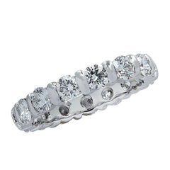 French 3 Carat Diamond Eternity Band
