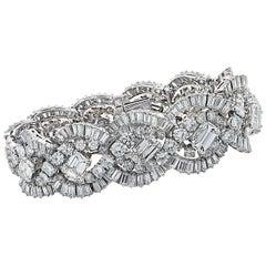 French 58.66 Carat Diamond Bracelet, circa 1960