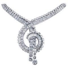 French 88 Carat Diamond Necklace, circa 1960