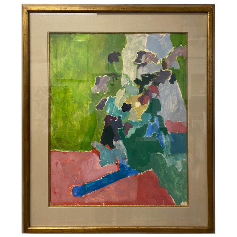 French Abstract Floral Still Life For Sale