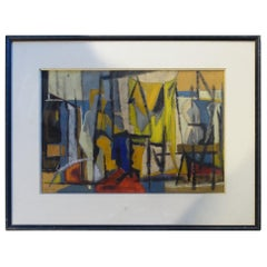 French Abstract Painting, Midcentury
