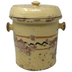 French Alsatian Preservation Jar with Lid