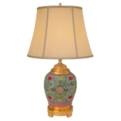 French and Asian Collaboration 19th Century Louis XVI St. Table Lamp