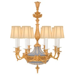 French and English Collaboration 19th Century Louis XVI St. Chandelier