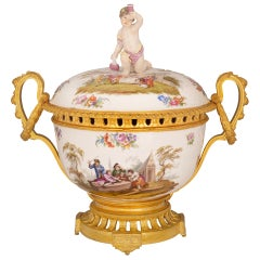 French and German Collaboration 19th Century Louis XVI Style Tureen Centerpiece