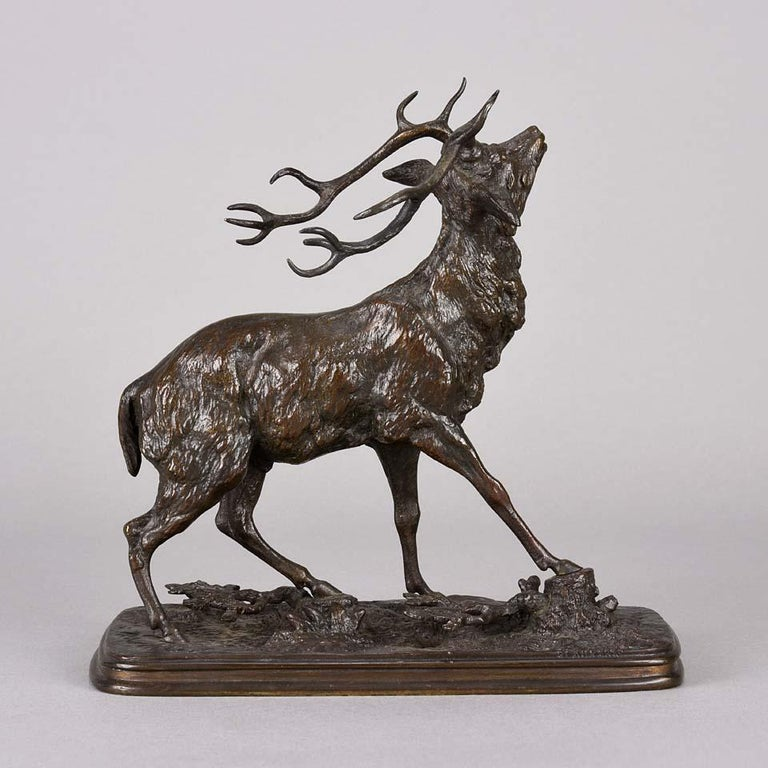 Cast French Animalier Bronze Study Entitled