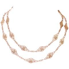 French Antique 18 Karat Necklace