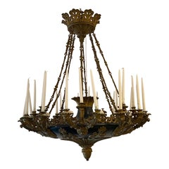 French Antique Bronze Chandelier