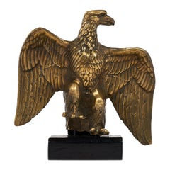 French Antique Bronze Eagle Statuette