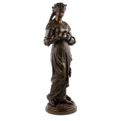 "French Antique Bronze of ""Pastorale"" by Charles Anfrie"