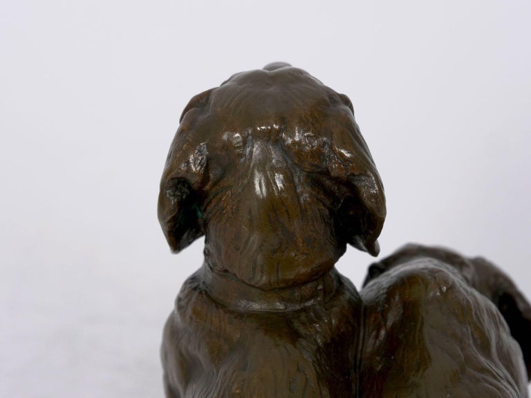French Antique Bronze Sculpture of Basset Hounds by E. Fremiet & Barbedienne For Sale 9