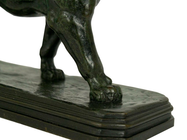 French Antique Bronze Sculpture of Marching Lion by Paul Edouard Delabrierre For Sale 10