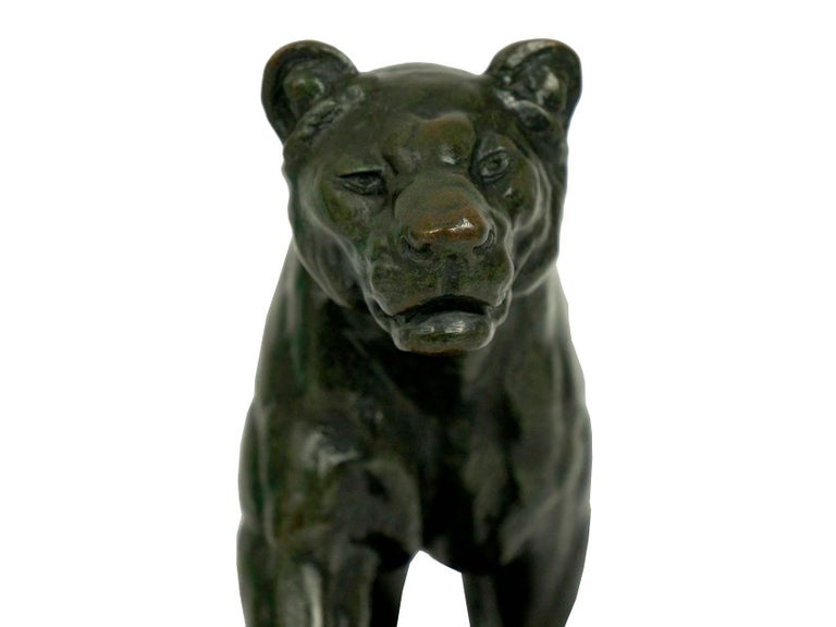 French Antique Bronze Sculpture of Marching Lion by Paul Edouard Delabrierre For Sale 12
