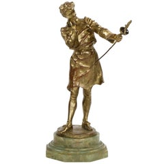 French Antique Bronze Sculpture 'Swordsmith' by Henry Kossowski Jr. & Siot