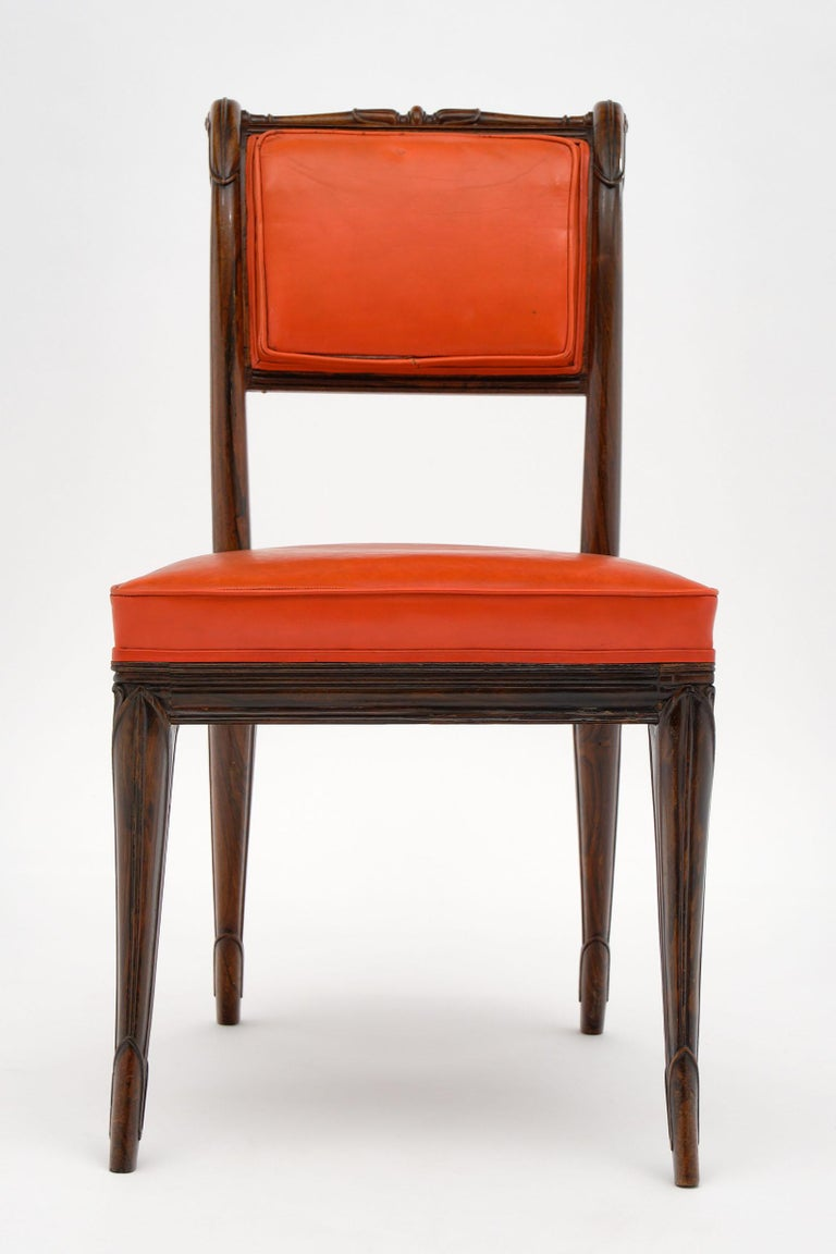 French Antique Charles X Style Dining Chairs In Good Condition For Sale In Austin, TX