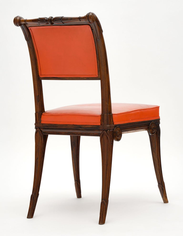 French Antique Charles X Style Dining Chairs For Sale 2