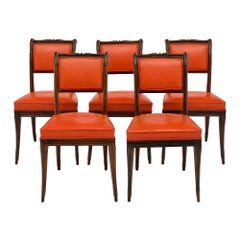 French Antique Charles X Style Dining Chairs