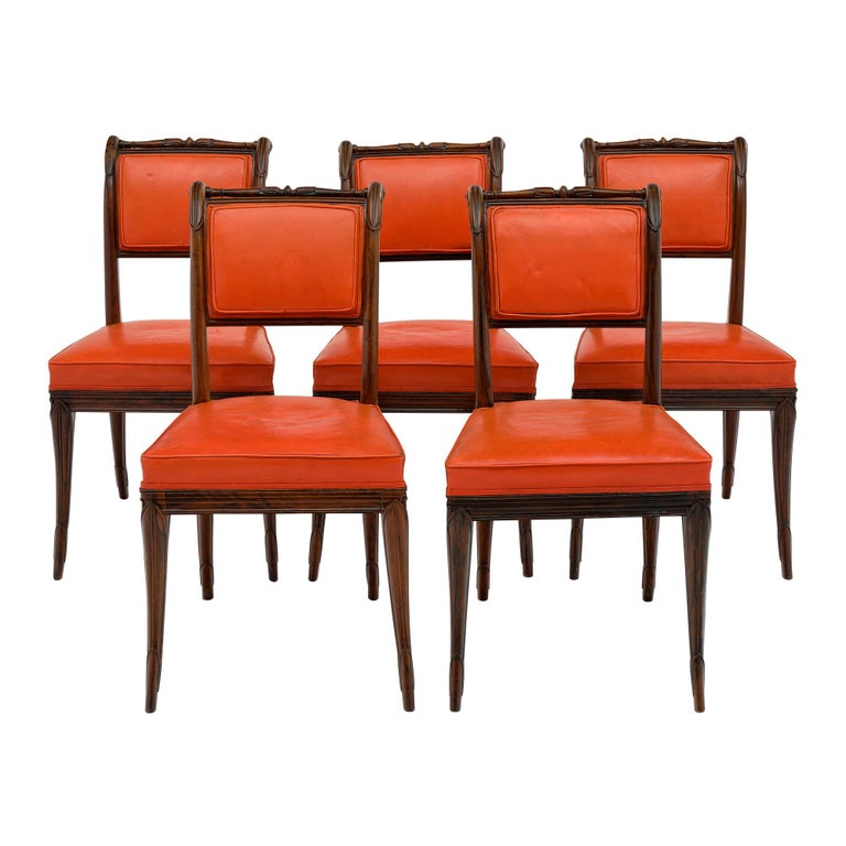 French Antique Charles X Style Dining Chairs For Sale