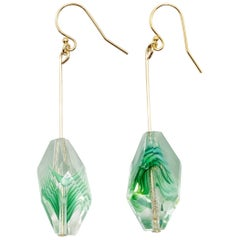 French Antique Crystal Glass Earrings