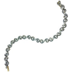 French Antique Diamond Silver and Gold Bracelet