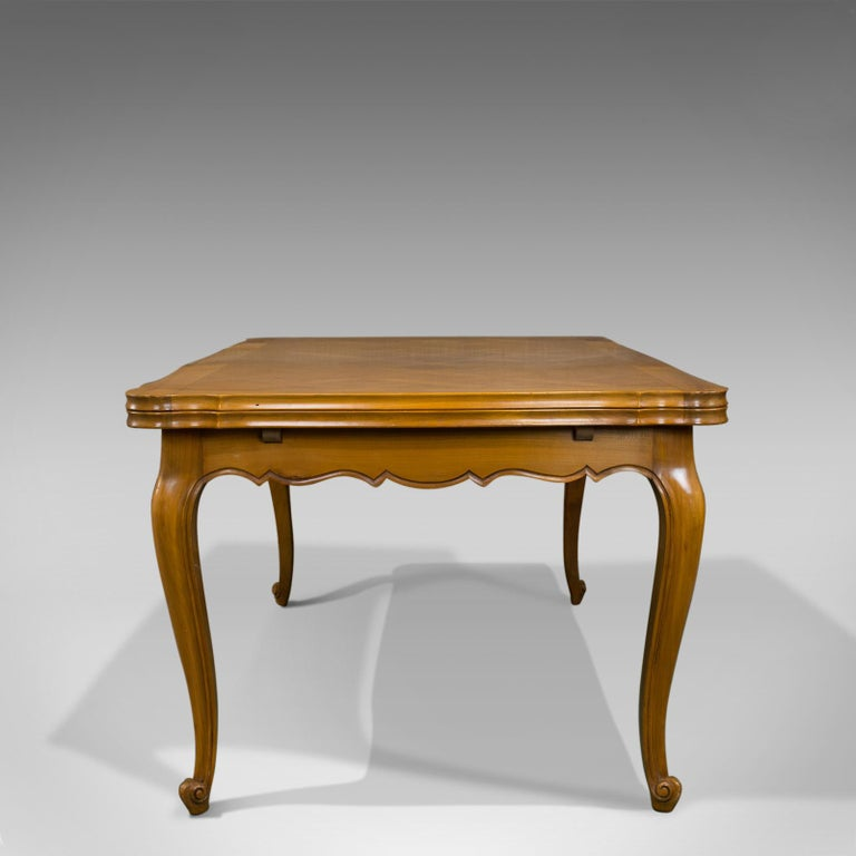 French Provincial French, Draw Leaf Dining Table, Beech, Extending, Louis XV Revival, circa 1930 For Sale